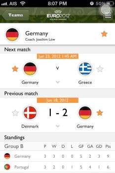 UEFA EURO 2012 App ที่ทำให้ใกล้ชิดเกาะติดการแข่งขัน Euro2012 นี้ 16 - Android