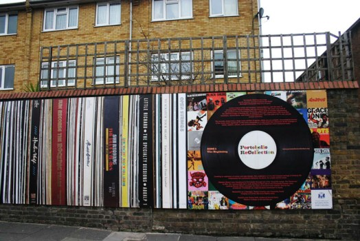 portobello recollection 524x350 Wall of the Sound โครงการสนุกๆที่ตลาด Portobello ใจกลางกรุงลอนดอน