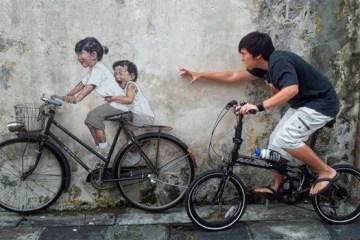 Interactive Painting..ภาพเขียน street art ที่ดึงให้คนมีส่วนร่วม 2 - interactive painting