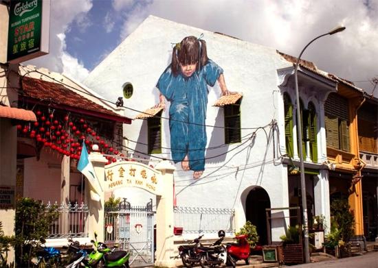 25550702 142738 Interactive Painting..ภาพเขียน street art ที่ดึงให้คนมีส่วนร่วม