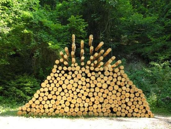25550704 190835 งานศิลปะ ที่เล่นตลกกับแรงดึงดูดของโลก..เสกให้กิ่งไม้, ก้อนหินลอยได้