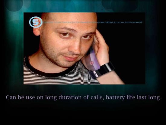 25550710 095052 Rollerphone..สมาร์ทโฟน บนสายรัดข้อมือ แบบหนัง Sci Fi เลย