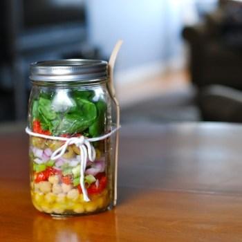 Chickpea Salad 350x350 The ways to reuse กระปุกแก้วเหลือใช้ทำอะไรดีน๊าา