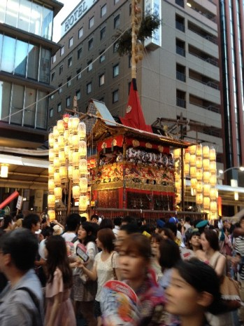 A scene from Yoiyama night market