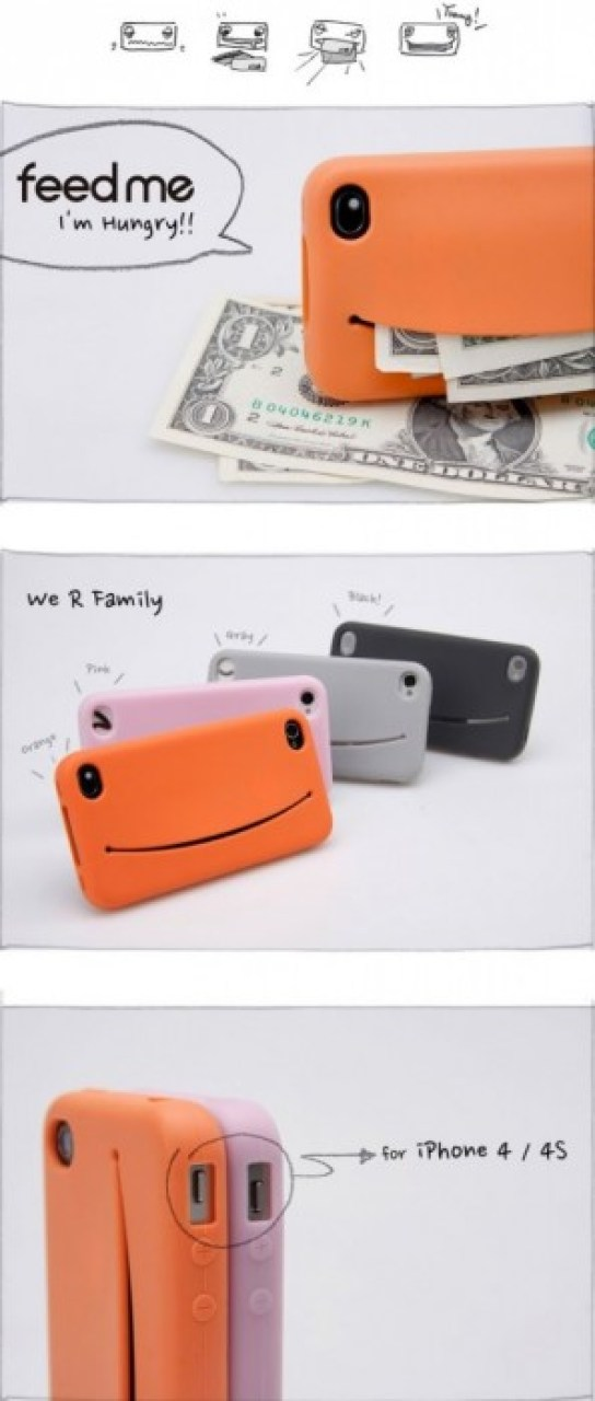 Feed Me iPhone Case...เคสน่ารักๆ มีปากยิ้ม ไว้ใส่ของ 14 -