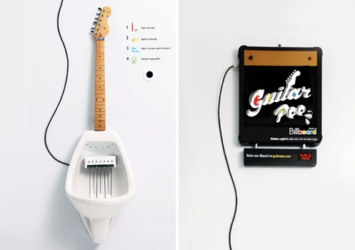 guitarpee01 497x350 Make Your Own MPee 3 With a Guitar Urinal...โถปัสสาวะกีต้าร์