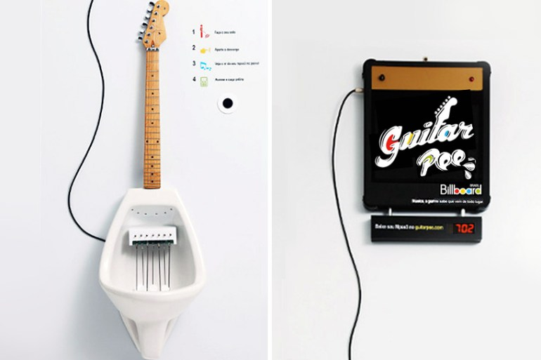 Make Your Own MPee 3 With a Guitar Urinal...โถปัสสาวะกีต้าร์ 22 - DESIGN