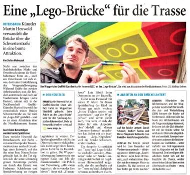 westdeutsche zeitung 09 09 379x350 LEGO bridge in germany สะพานเลโก้