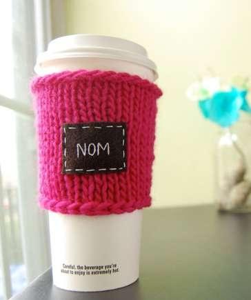 25550803 135454 เสื้อไหมพรมสำหรับแก้วกาแฟ