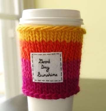 25550803 135552 เสื้อไหมพรมสำหรับแก้วกาแฟ