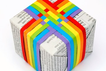 DIY.Woven paper gift topper 2 - wrap