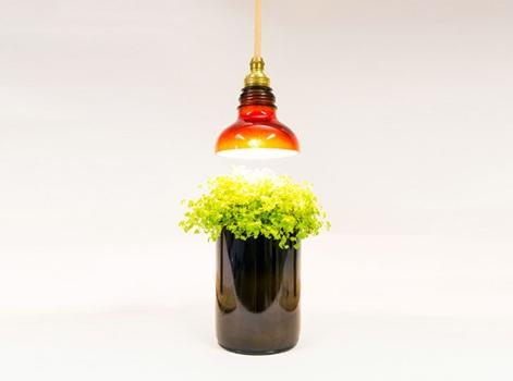 โคมไฟจากขวดแก้วใช้แล้ว 13 - Art & Design