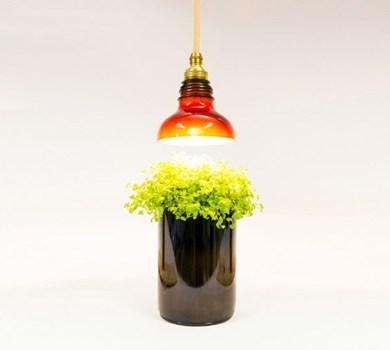 โคมไฟจากขวดแก้วใช้แล้ว 22 - Art & Design