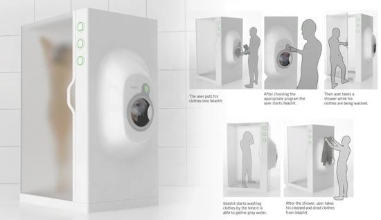 25550923 172001 ห้องอาบน้ำ ที่เป็่นเครื่องซักผ้าไปด้วย...ประหยัดทรัพยากรน้ำเพื่อโลกในอนาคต