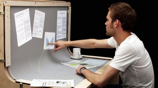 Futuristic Desktop: 3D Multi-Touch Computer + Desk Design 14 -