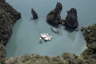 Floating cinema โรงหนังลอยน้ำที่เกาะยาวน้อย 13 - floating cinema