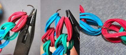 DIY.Rubber Band Chain Necklace&Bracelet 18 - bracelet