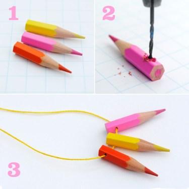 crayon beads 5 375x375 DIY.jewelry จากดินสอสีไม้