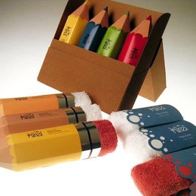 Packaging ผ้าขนหนู..แนวคิดเจ๋งๆ ที่ทำเป็นยางลบในแท่งดินสอ 14 - packaging