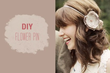 DIY: FLOWER PIN 16 - fabric