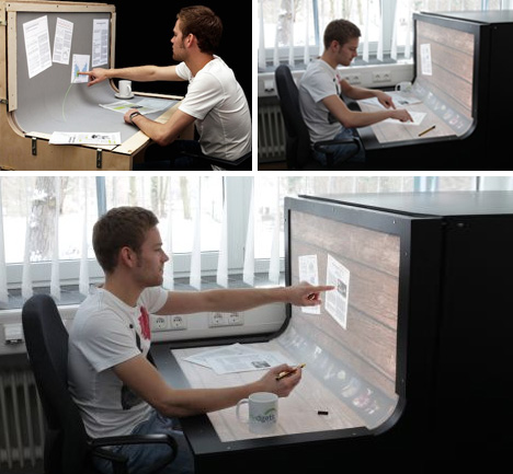 Futuristic Desktop: 3D Multi-Touch Computer + Desk Design 13 -