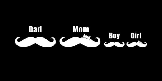 Giant Car Mustache Car Decal รถมีหนวด 4 - mustache