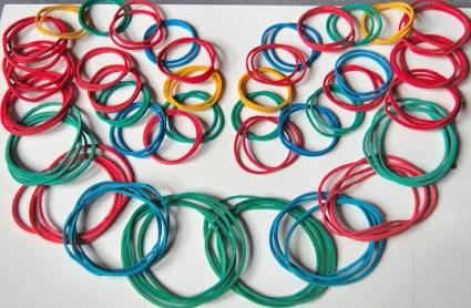 DIY.Rubber Band Chain Necklace&Bracelet  14 - bracelet