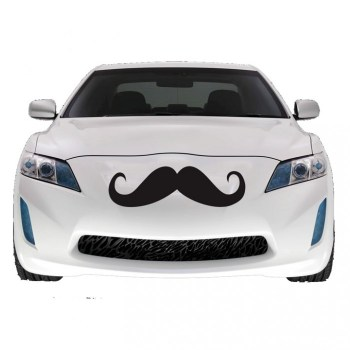 Giant Car Mustache Car Decal รถมีหนวด 3 - mustache