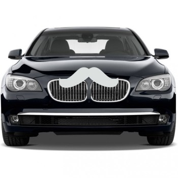 mustache car decal sticker white  97974 zoom 350x350 Giant Car Mustache Car Decal รถมีหนวด