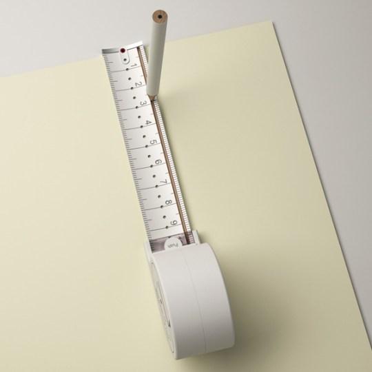 scale ไอเดียออกแบบฉลาดๆ ทำสายวัด ให้เป็นวงเวียนด้วย