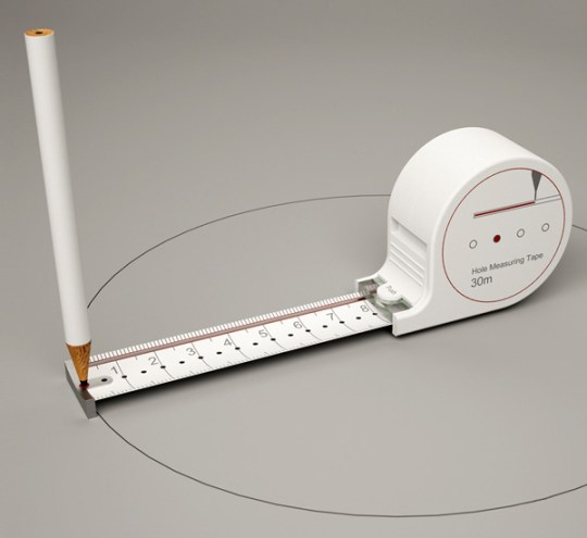 scale2 ไอเดียออกแบบฉลาดๆ ทำสายวัด ให้เป็นวงเวียนด้วย