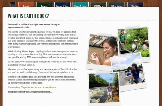 2 533x350 WWF Earth Book 2012 Project เฟชบุ๊คของธรรมชาติ