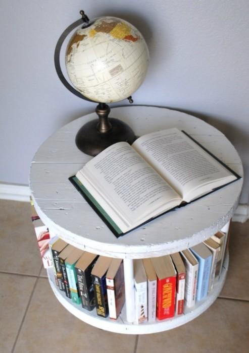 25551003 184106 DIY ทำที่เก็บหนังสือ จากแกนเก็บสายเคเบิ้ล