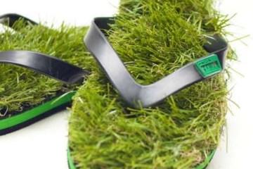 เดินบนหญ้าไปทุกที่..ด้วยรองเท้าแตะหญ้าสุดแนว.. 6 - go green