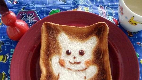 25551017 100503 DIY สร้างสรรค์ภาพการ์ตูนบนขนมปัง..ง่ายๆจากฟลอยห่ออาหาร