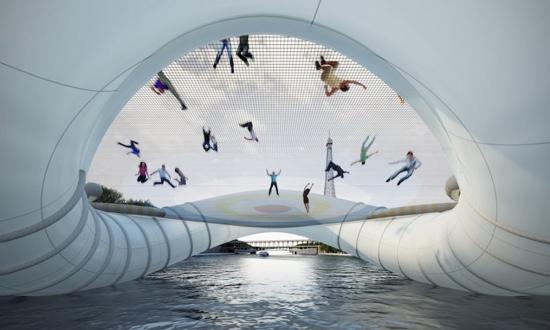 25551019 232655 บิน และโดดข้ามแม่น้ำด้วยTrampoline bridge ในปารีส