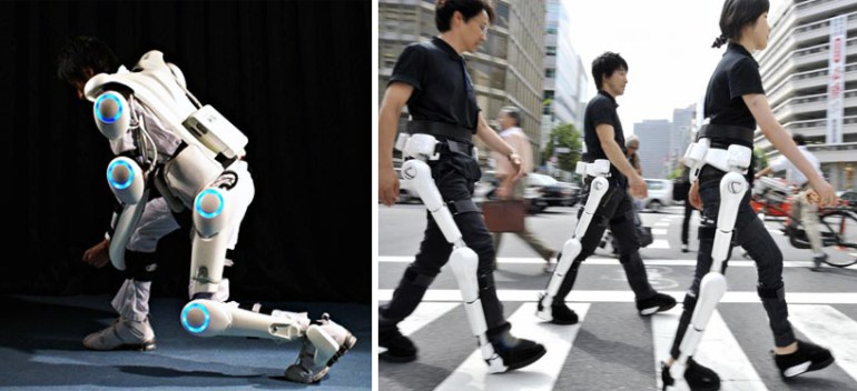 ชุดหุ่นยนต์เพื่อเป็นอุปกรณ์ในการช่วยเหลือคนพิการและคนชรา 13 - Cyberdyne Hal Robotic Exoskeleton
