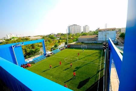 jyu Skykick Arena สนามฟุตบอล ย่านบางนา ตราดซอย 6