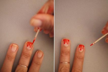 DIY.drippy nail ต้อนรับฮาโลวีน 18 - DIY