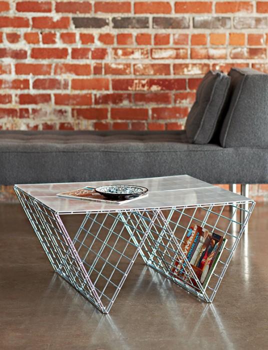 DIY coffee table จากแผงลวด 15 - minimalist