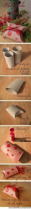 DIY กล่องของขวัญจากแกนทิชชู 15 - DIY