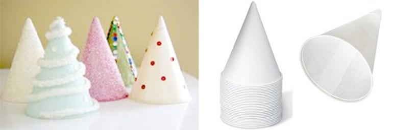 """DIY """"Christmas Tree"""" ต้นคริสต์มาส จากกรวยกระดาษใส่น้ำ 15 - christmas tree"""