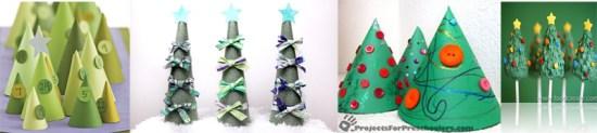 """DIY """"Christmas Tree"""" ต้นคริสต์มาส จากกรวยกระดาษใส่น้ำ 17 - christmas tree"""