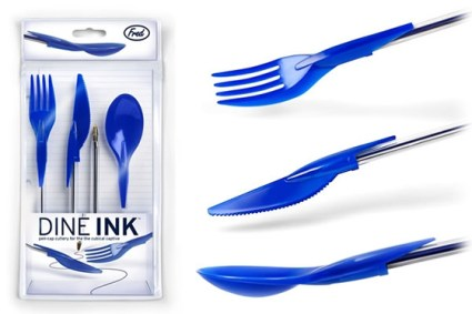 fred dine ink 425x283 Dineink   Pen Cap Cutlery