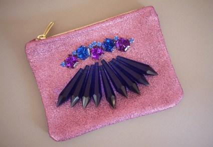 glitterclutch7 425x294 DIY Chandelier Crystal Clutch
