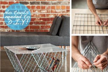 DIY coffee table จากแผงลวด 22 - minimalist