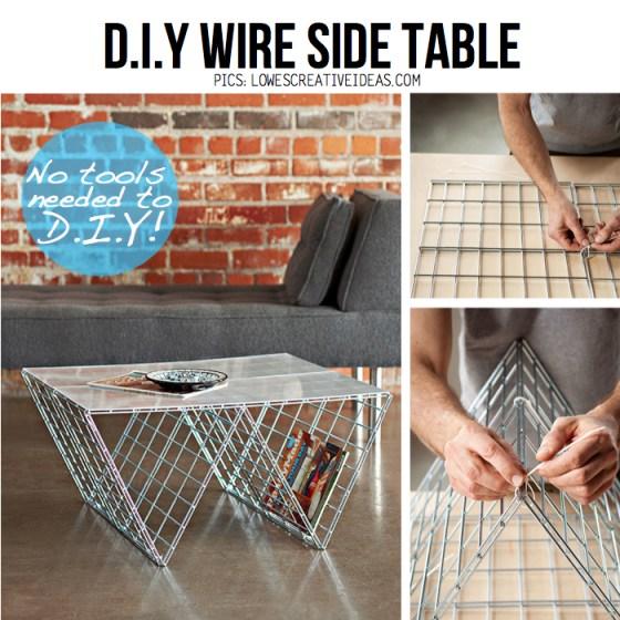 %name DIY coffee table จากแผงลวด