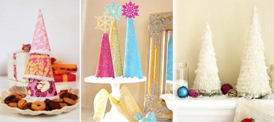 """DIY """"Christmas Tree"""" ต้นคริสต์มาส จากกรวยกระดาษใส่น้ำ 18 - christmas tree"""