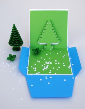 DIY.Christmas pixel popup cards 14 - christmas
