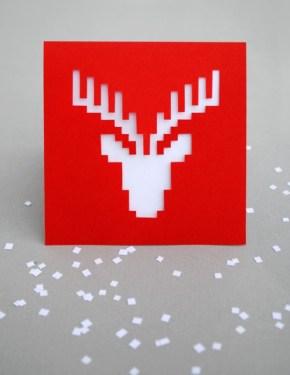 DIY.reindeer card 14 - card